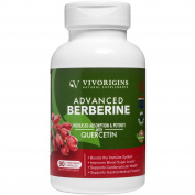 Advanced Berberine with Increased Absorption & Potency Quercetin to Support Cardiovascular Health & Digestion-Boost Immune System & Energy Levels-Healthy Blood Sugar Levels-90 veg caps