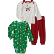 Carter's Unisex-baby Child of Mine - Santa Tee's and Pants Set