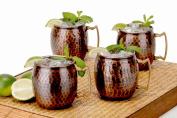 Antique Copper Hammered Fest Moscow Mule Mug Set of 4