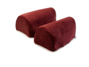 Chenille Pair of Rounded Arm Caps Sofa Furniture Cover Antimacassar