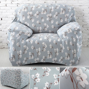 Single Seater Sofa Cover Arm Chair Slipcover Elastic Fabric Couch Cover Settee Protector