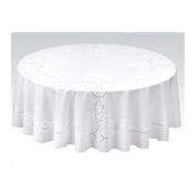 My pearl race tablecloth minuet series 152cm-maru white sherry WH