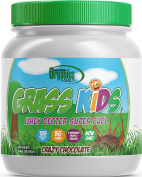 Non-GMO, Grass-Fed Whey, Kids Nutritional Protein Shake, GRASS KIDS, Crazy Chocolate , 3 Servings of Fruits/Veggies