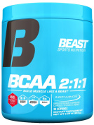 Beast Sports Nutrition BCAA 2:1:1 - Amino Acid Powder with Instaminos® for Rapid Dispersion Plus Tart Cherry Extract for Muscle Repair. Train Longer and Harder. 255 Gms 30 Servings Beast Punch