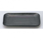 Mine melamineware black corner plate size M11-138