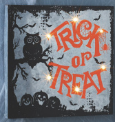 Vintage Style Metal Lighted Halloween Signs - Silhouette Hanging Wall Decorations