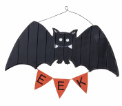 Ghost Boo/Bat Eek Wooden Hanging Wall Art Halloween Signs Decor