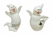 Happy Halloween Ghosts 8.3cm Tall Set of 2