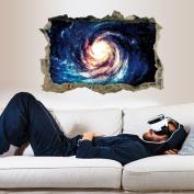 3D Star Series Floor Wall Sticker,Woaills Art Vinyl Mural Decals Home Decor