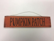 Pumpkin Patch Fall Halloween autumn decorations rustic stencilled wooden wall sign country home