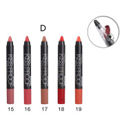 Aurorax Women Menow 5PCS Soft Long-Lasting Lipstick, Pen + 1PC Pencil Sharpener