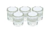 OPCC 5 pcs Nail Art Acrylic Liquid Powder Dappen Dish Glass Crystal Cup Glassware Tools