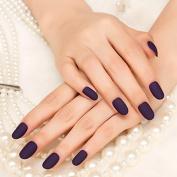 24pcs Simple Beauty Kiss Nail Artificial False Nail Art Tips Sexy Deep Purple Hand Nails Z070