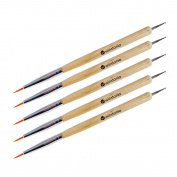 Winstonia 5 pcs Nail Art Fine Detailer Brushes Dotting Tools Manicure Pen Bundle