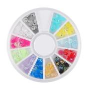 Nibito Diamonds Dazzling Tips Nail Sticker Sequins Colourful Nail Art Decoration