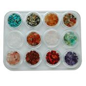 Nibito Nail Crystal Multicoloured Stone Small Component 3D Stone Nail Sticker