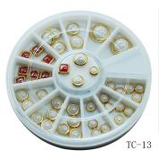 Nibito Nail Metal Frame Ceramic Decoration Small Component 3D Ceramic Nail Sticker