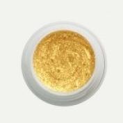 Purenail Uv Nail Gel -5 Ml - Glittery Gold - Glitter