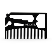 QSHAVE Multifunctional Utility Comb Fits in Your Wallet