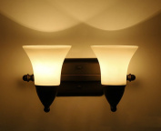 Waterproof anti-fog Mirror front lights, American style led Before the mirror bathroom wall lamp Double head Creative Hotel glass Wall lamp bedside aisle corridor wall lamp E27 light source Stable and reliable