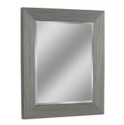 Head West Rustic Box Driftwood Wall Mirror, Light Grey