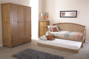Madrid Day Bed with Trundle Set - Oak