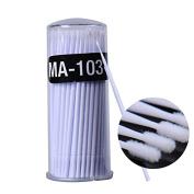 Yimart 400pcs White Disposable Mascara Applicator Micro Brush Individual Eyelash Extension Microbrushes