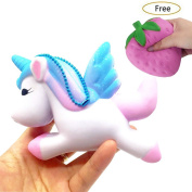 Lishy New Exquisite Cute Jumbo Unicorn Squishy Slow Rising Squeeze Toys Anti-stress Scented Simulation Kids Soft Toy Fun Charm Gift Party Favours for Children and Adult