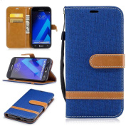 Galaxy A5 2017 Wallet Case, BoxTii® Galaxy A5 2017 Case with [Free Tempered Glass Screen Protector] [Card Slots] [Hand Strap], Shock Proof Stand Cover and Premium Leather Magnetic Flip Case for Samsung Galaxy A5 2017