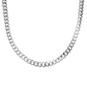 Silverly Men's Women's .925 Sterling Silver Chunky Curb Chain 10 mm Lobster Clasp Necklace, 56 cm