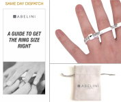Ring Sizer, Ring Size Guide & Jewellery Pouch for Men and Women. Measures Ring Sizes UK - A to Z.
