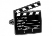 MFYS Hollywood Director Movie Clapperboard Cufflinks for Men Jewellery with Gift Box