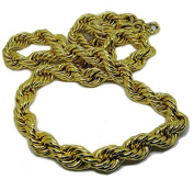 Mens Chunky HipHop Bling Dookie Run DMC Rope Chain 14K Gold Plated