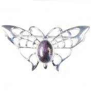 Silver and Blue John (Derbyshire) Butterfly BROOCH