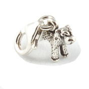 Sterling Silver Schnauzer Dog Clip On Charm - With 11mm Clasp