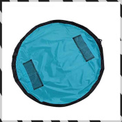 Two colours of 45/102/ diameter / wine red convenient for Zicac toy storage bag convenience goods storing mat outing putting in order simple Lego storing [blue] [150cm]