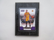 Jordan Clarkson Los Angeles Lakers Prestige Threads NBA 2016-17 player card mounted on a 10cm x 15cm black marble plaque