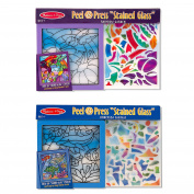Melissa & Doug Peel and Press Stained Glass Activity Kits Set