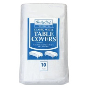 3 X Daily Chef Disposable Table Cover, White, 10 cloths