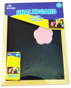 BLACKBOARD 30cm x 23cm - includes chalk/eraser - great for kids, kitchens, office, travel .