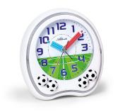 Atlanta Children's Alarm Clock Analogue White Football Soccer - 1719-0F