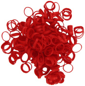 Rainbow Looms 494 B0228 Red Alpha Bands