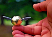Golden Snitch Spinner Fidget, 17Tek Golden Ball Angel Wing Style with a Replaceable Smooth Mute Bearing for SBDX ADHD Anxiety Autism Suffers
