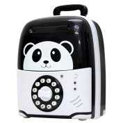 APUPPY Electronic Piggy Bank Mini ATM Password Money Bank Safe Locks Saving Box Panda Travelling Case Smart Voice & Music Prompt Money Piggy Box for Children/Toy Gifts Birthday Gifts
