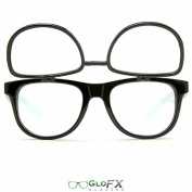 GloFX Matrix Double Diffraction Glasses - Black Intense Rave Party Glasses