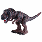 Electronic Dinosaur Toys Tyrannosaurus Flashing Walking Dinosaur Robot With Sounds