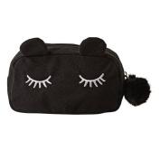Toiletry Bag Cat Black