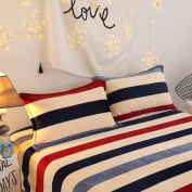 Wmshpeds Autumn and winter thick double - sided France Levin pillowcase printing pure colour pillowcases