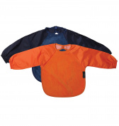 Mum2Mum 6-18 Months Sleeved Wonder Bib Multipack in Navy/Orange