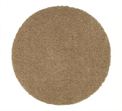 Sweet Home Stores Cosy Shag Collection Solid Shag Rug, 1.5m Round, Beige Colour